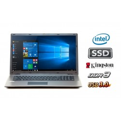MULTI•BOOK 17M3700: Intel Quad Core tot 4 x 2.4 GHz  / 4GB DDR3 / 120GB SSD / USB3.0 / Webcam